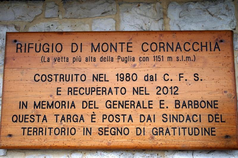 Der höchste Berg von Apulien: Monte Cornacchia 1151 m