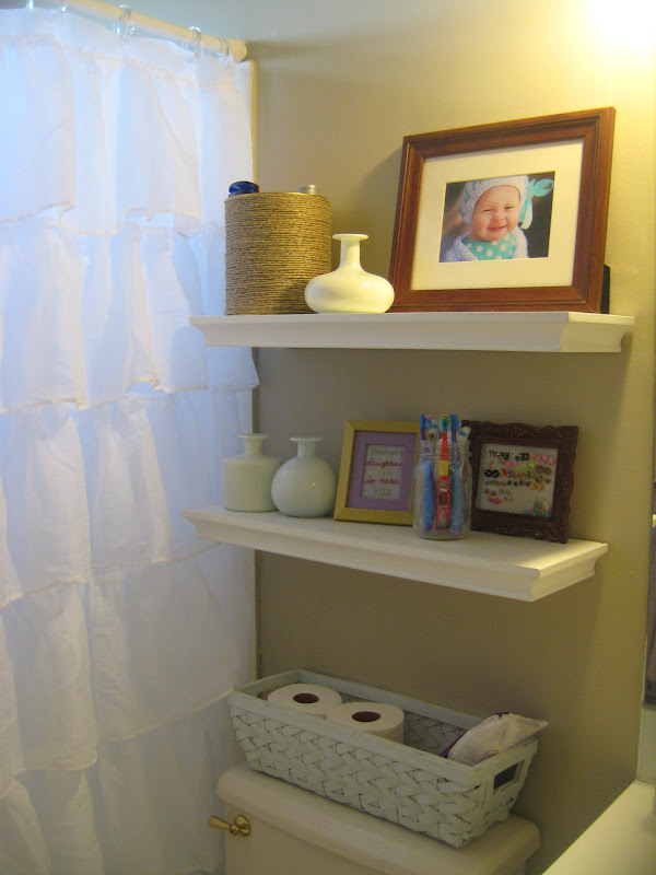 My Pinterest inspired bathroom and laundry room makeover! title=