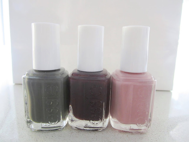 Essie's Fall 2011 line of nail polish in Power Clutch, Carry On and Lady Like