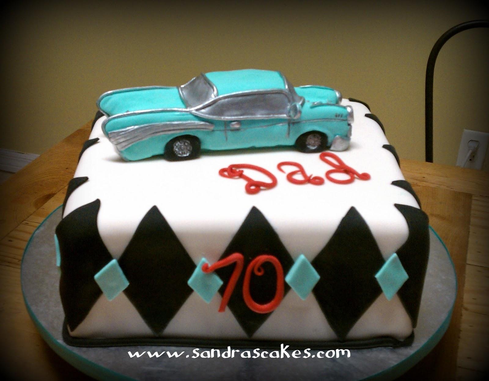 Sandras Cakes Unique Birthday Cakes Classic Car Cake For A