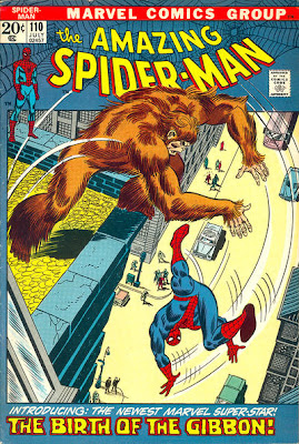 Amazing Spider-Man #110, first appearance the Gibbon and origin