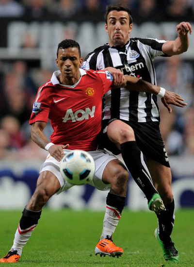 Luis Nani Manchester United vs Newcastle United Barclays Premier League