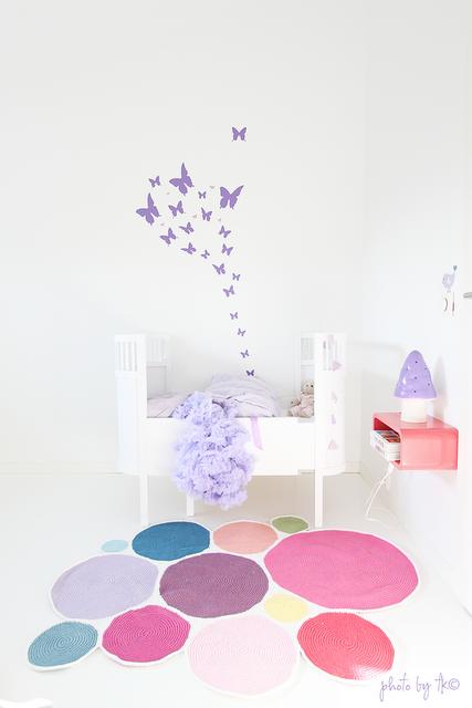 Alfombra de colores para una habitaci n infantil lila - Alfombra para habitacion ...