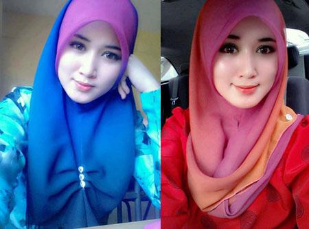 Jilbab Dua Warna Trend Jilbab 2013