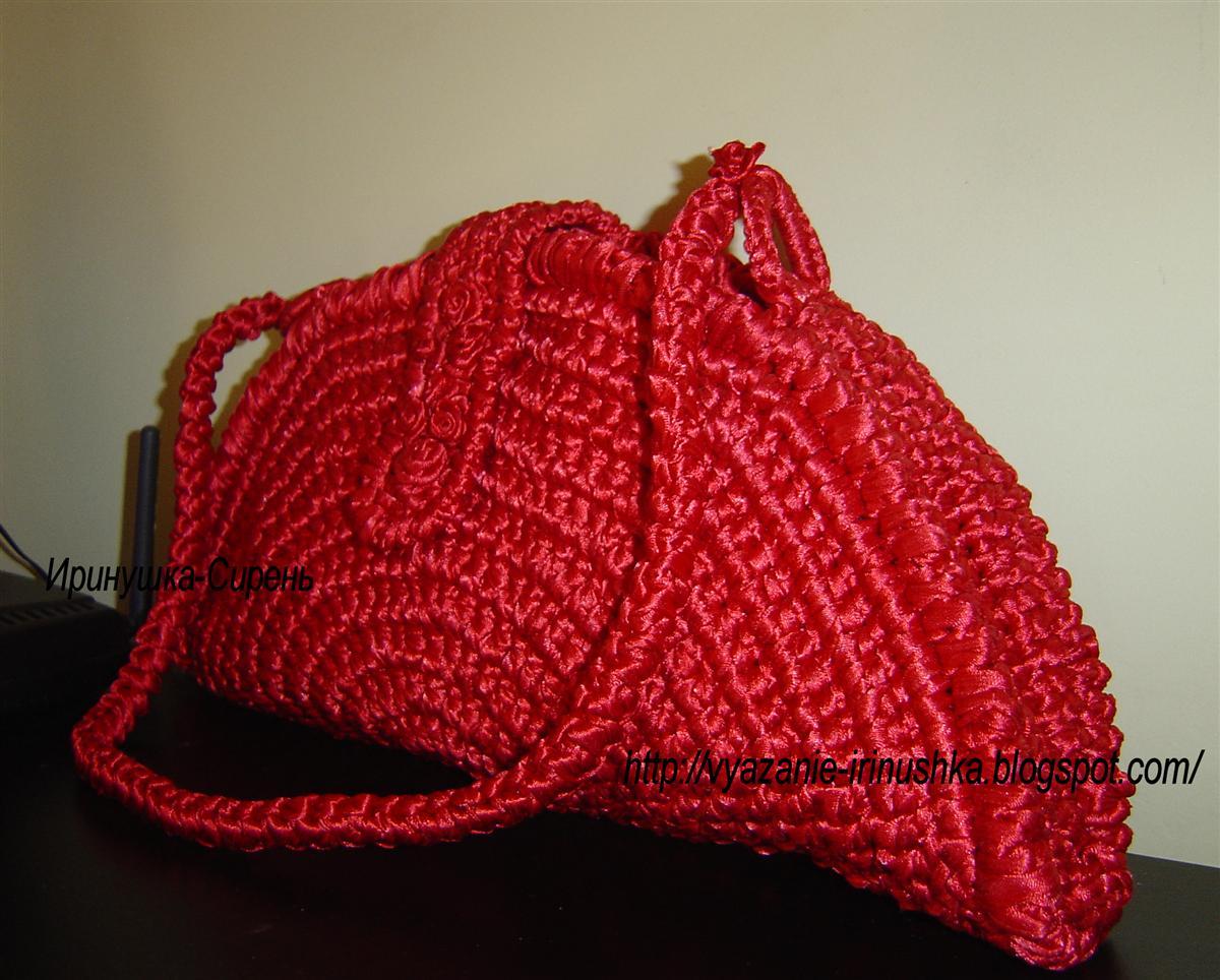 Вяжем красную сумку