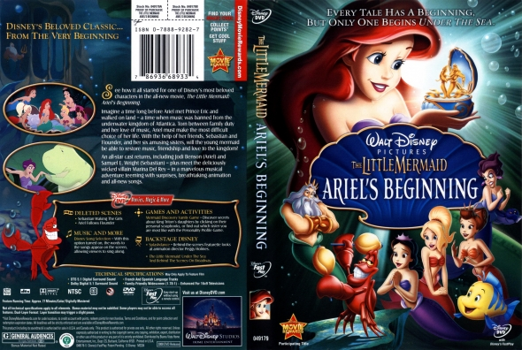 DVD cover The Little Mermaid 3 2008 animatedfilmreviews.blogspot.com