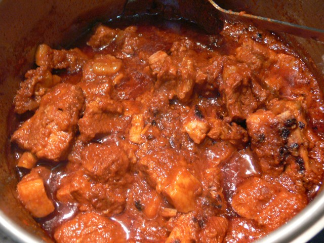 Pork Vindaloo - hot, spicy and fabulously tasty