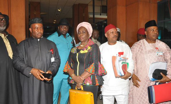 pdp minister walk out of senate as Amaechi is named minister