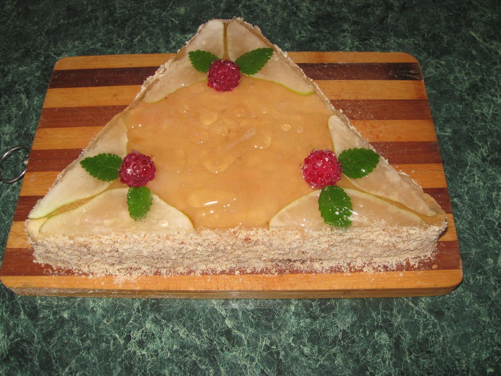 Торт из фруктов без крема и теста рецепт