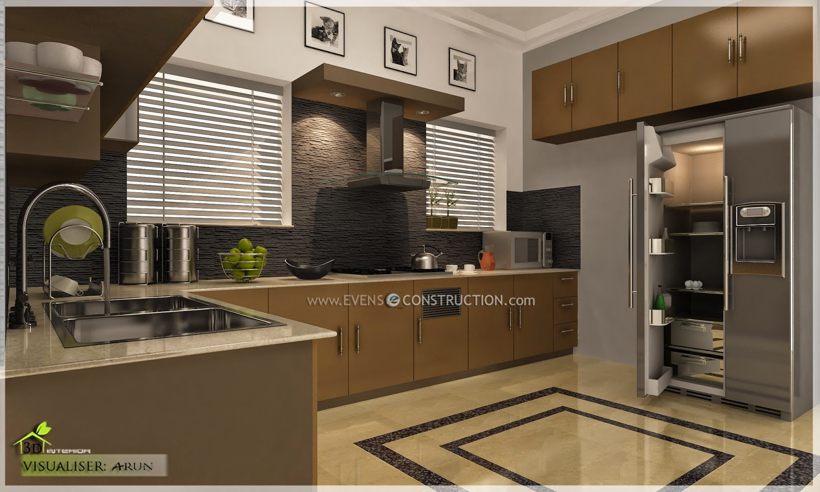 Evens construction pvt ltd may 2014 for New kitchen designs in kerala