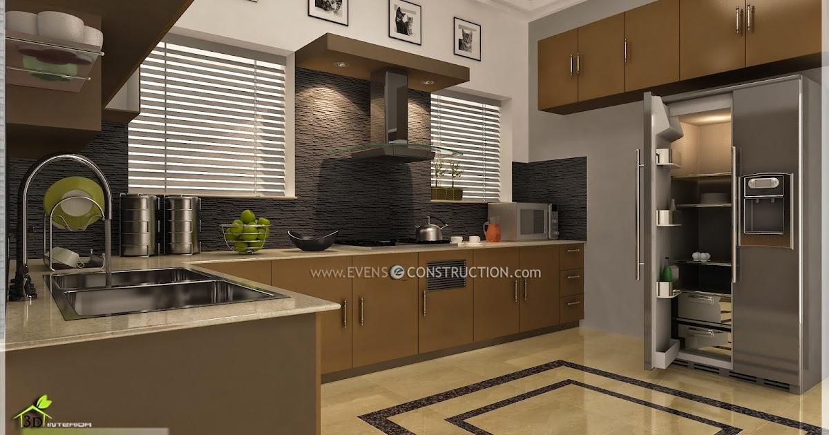 Evens Construction Pvt Ltd Modern Kerala Kitchen Interior Design