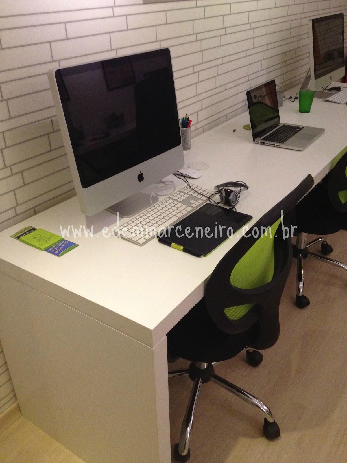 Mesa para Escritório em MDF Branco Liso Edem Marceneiro #48591B 1200x1600