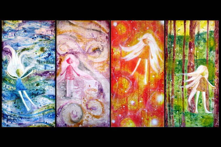 4 Elements Of Art : The four elements warrior of light india