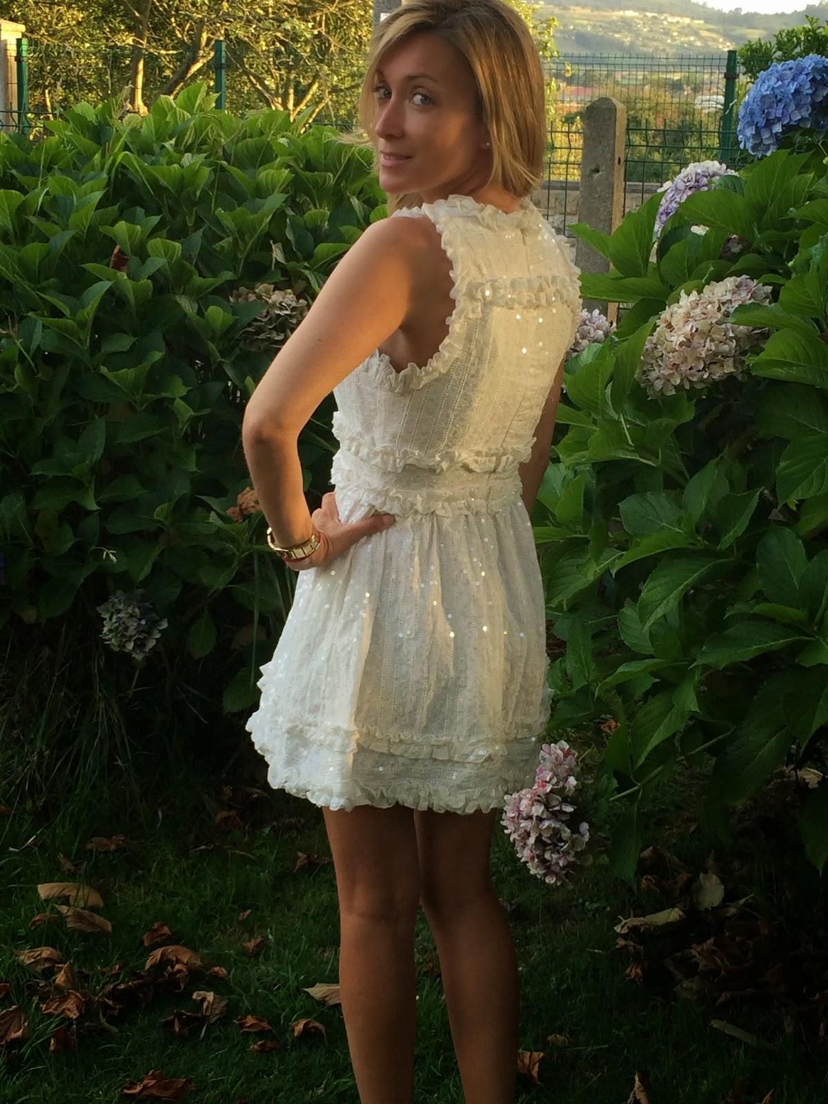 Vestido corto blanco holy preppy