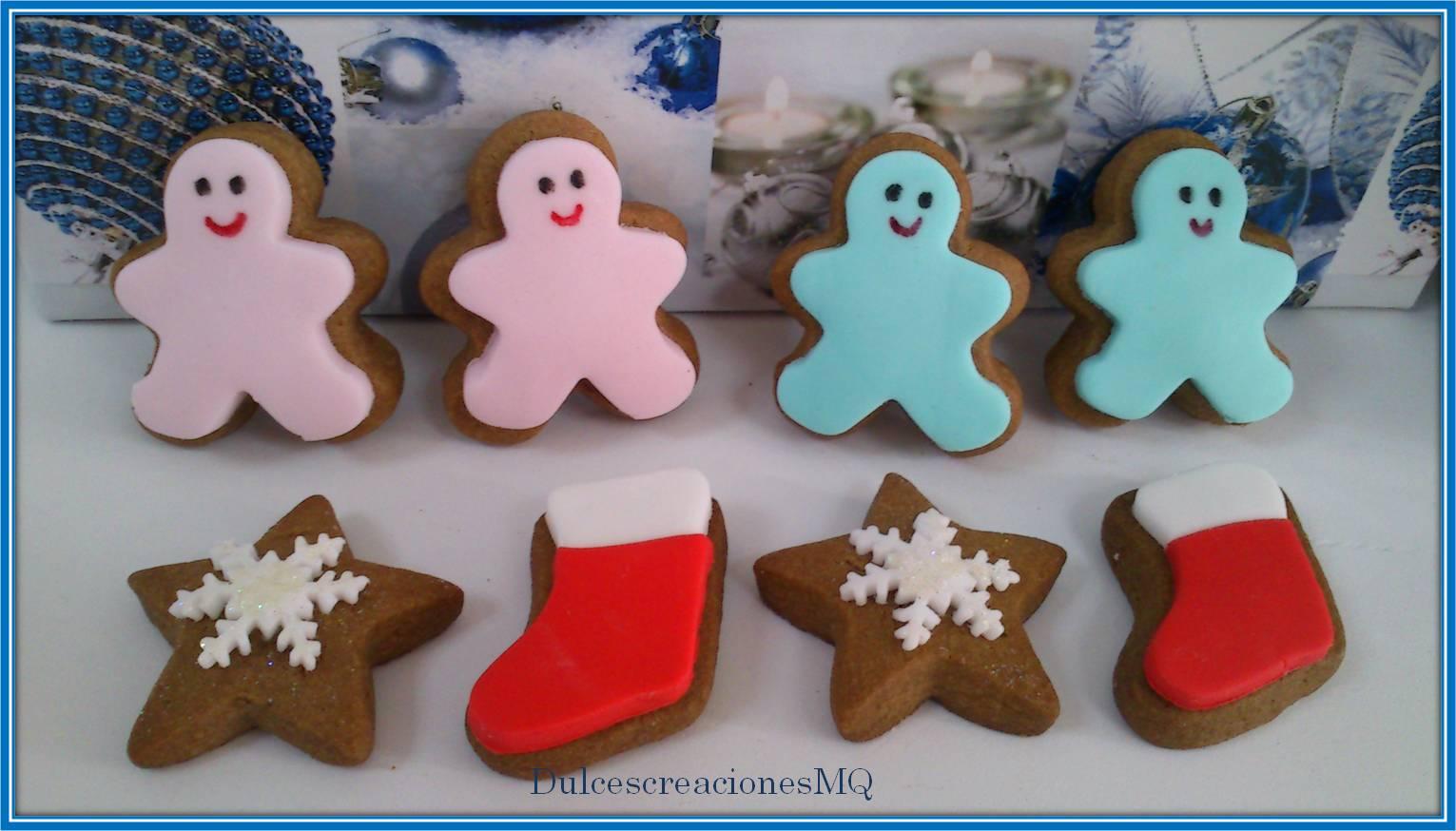 galletas de chocolate fondant dulces estrellas copos de navidad muñecos de galletas chocolate botas de galletas