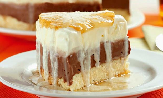 #receita de #torta de #abacaxi e #chocolate