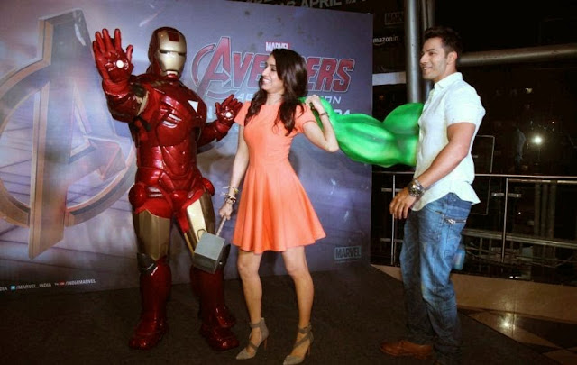 Shraddha Kapoor At 'Avengers Age of Ultron' Special Screening At PVR Cinema
