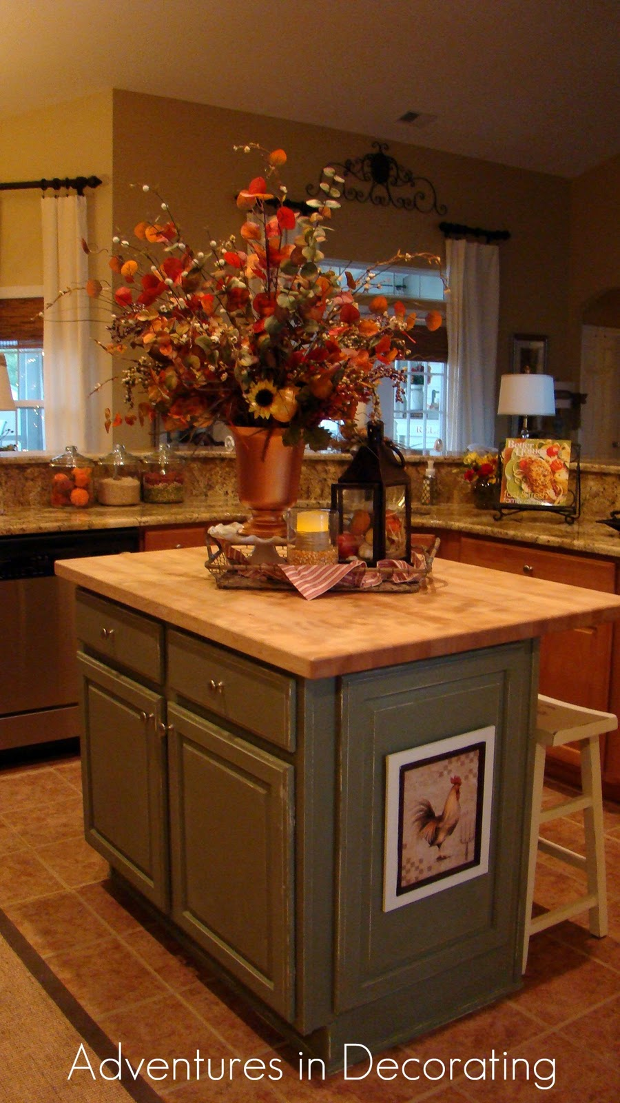 Adventures in decorating fall in the kitchen for Island bathroom ideas