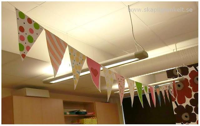 Vimplar klassrum pyssel papper