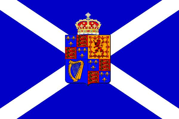 royal flag of jacobite Scotland