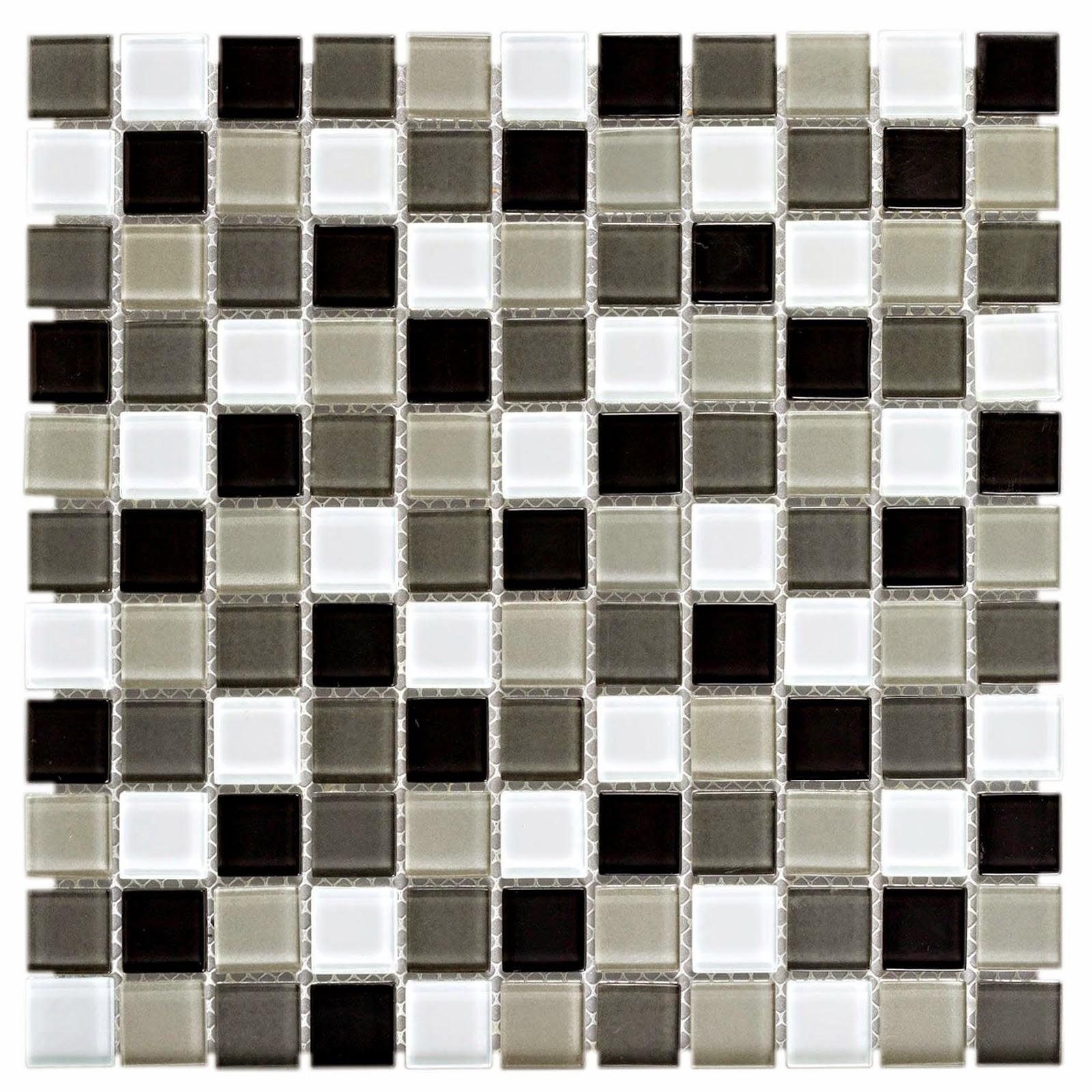 Pastilha de Vidro Mesclada Preto/ Branco e Cinza MIX 04 30x30 Colortil #1A1612 1600x1600 Banheiro Com Pastilha Branca E Preta