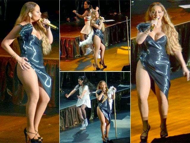 4 Foto Gaun Terbelah Mariah Carey Bikin Panas