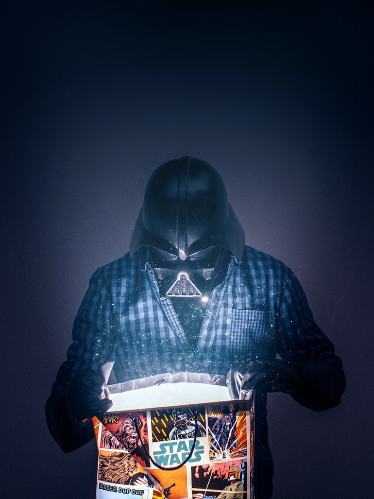 09-Christmas-already-Pawel-Kadysz-Photographs-of-Darth-Vader-away-from-Star-Wars-www-designstack-co