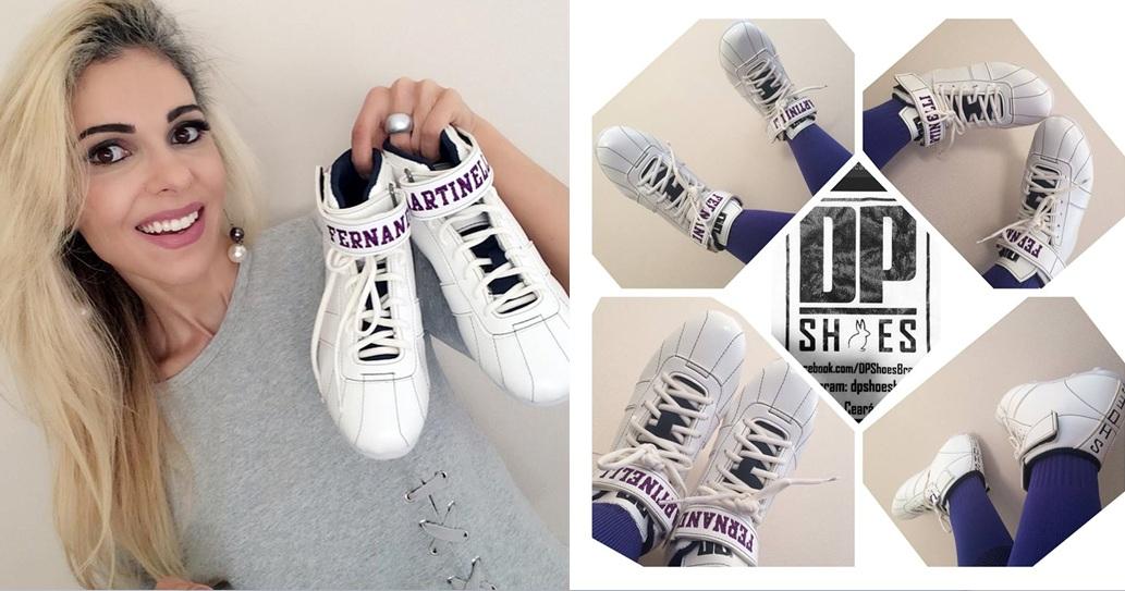 Musa do Futebol Americano no Brasil recebe chuteiras personalizadas da DP Shoes Brasil