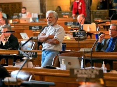 Nebraska Senator Ernie Chambers sponsored the death penalty repeal bill