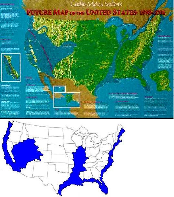 Edgar Cayce Us Map - Map of us after pole shift