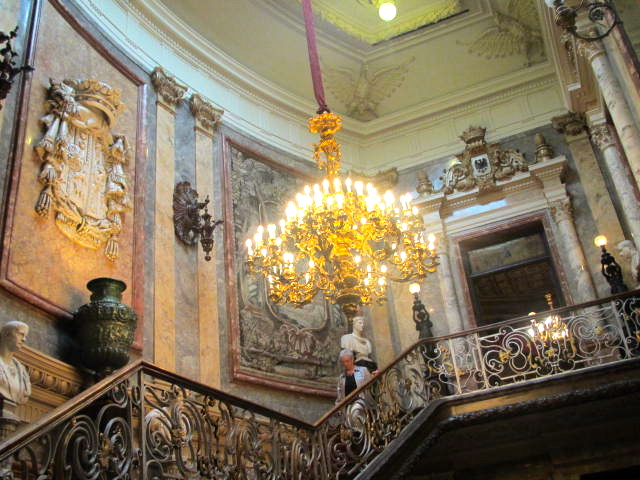 staircase at museo Cerralbo