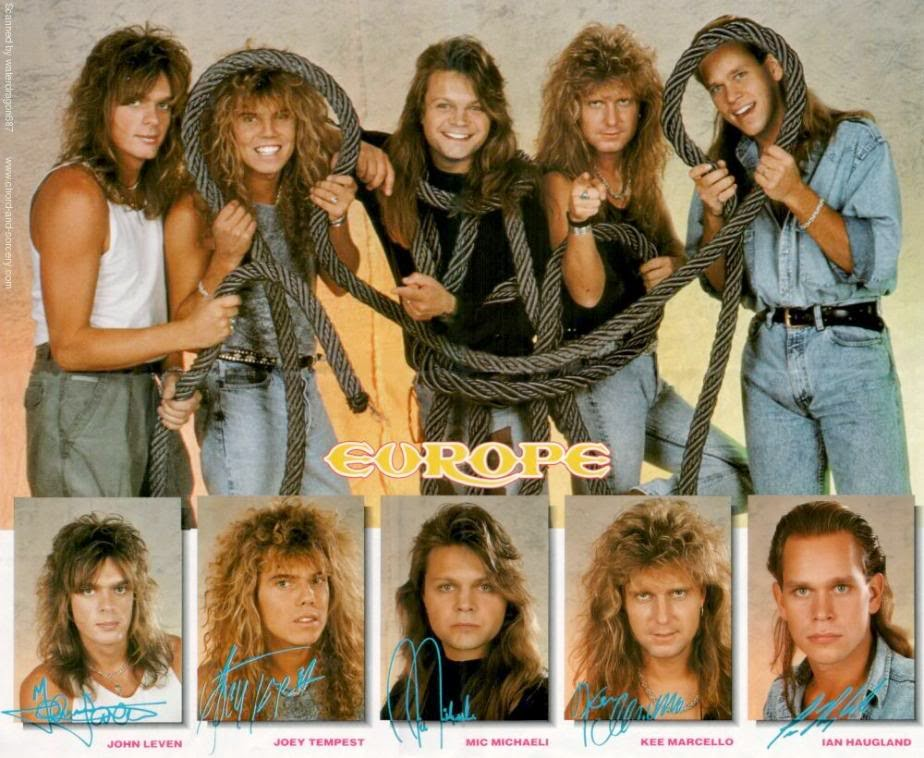 Europe is a hard rock/heavy metal band formed in Upplands Väsby, Stockholm, Sweden in 1979 under the name Force by vocalist Joey Tempest, guitarist John Norum, bassist Peter Olsson and drummer Tony Reno.http://www.jinglejanglejungle.net/2015/02/eu1.html #Europe