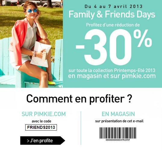 Pimkie: code promo -30% avril 2013