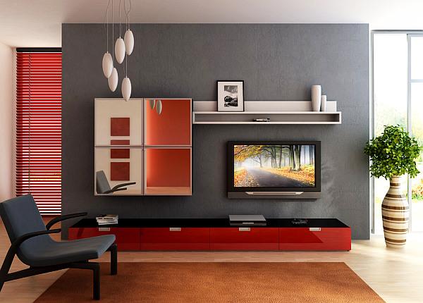 desain ruang tamu minimalis semi modern model rumah modern