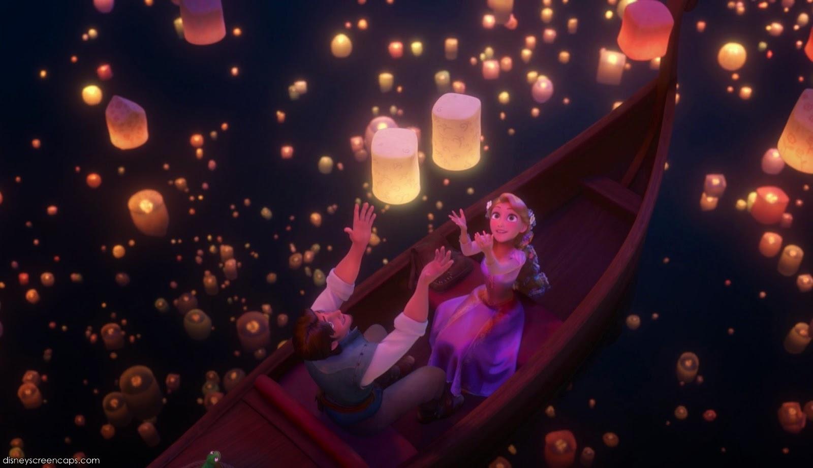 Disney Movie Rapunzel Releasing Lanterns
