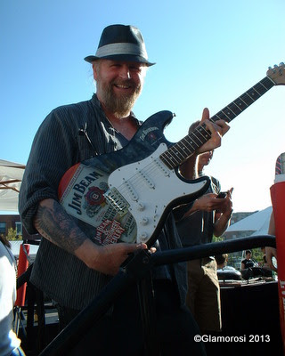 Mark Bee of Silk City, winner of the Jim Beam Guitar Raffle, Philly Burger Brawl 2013 - Photo by Glamorosi