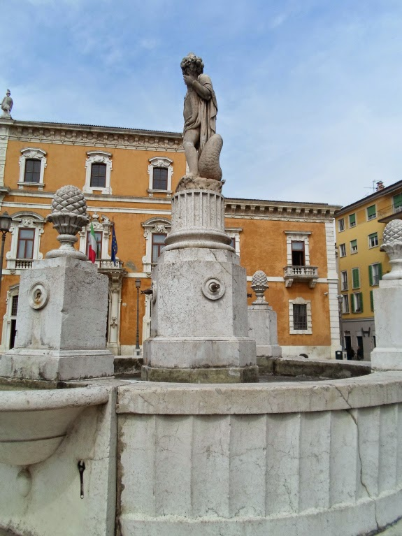 A fountain at Brescia City