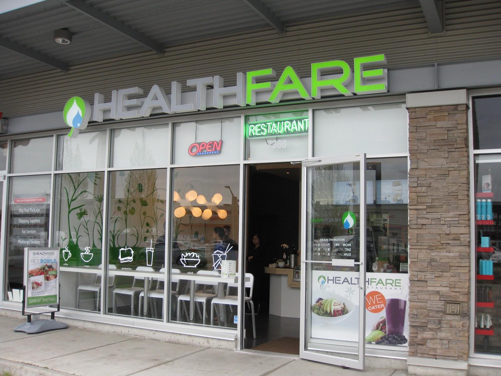 Healthfare Restaurant Menu