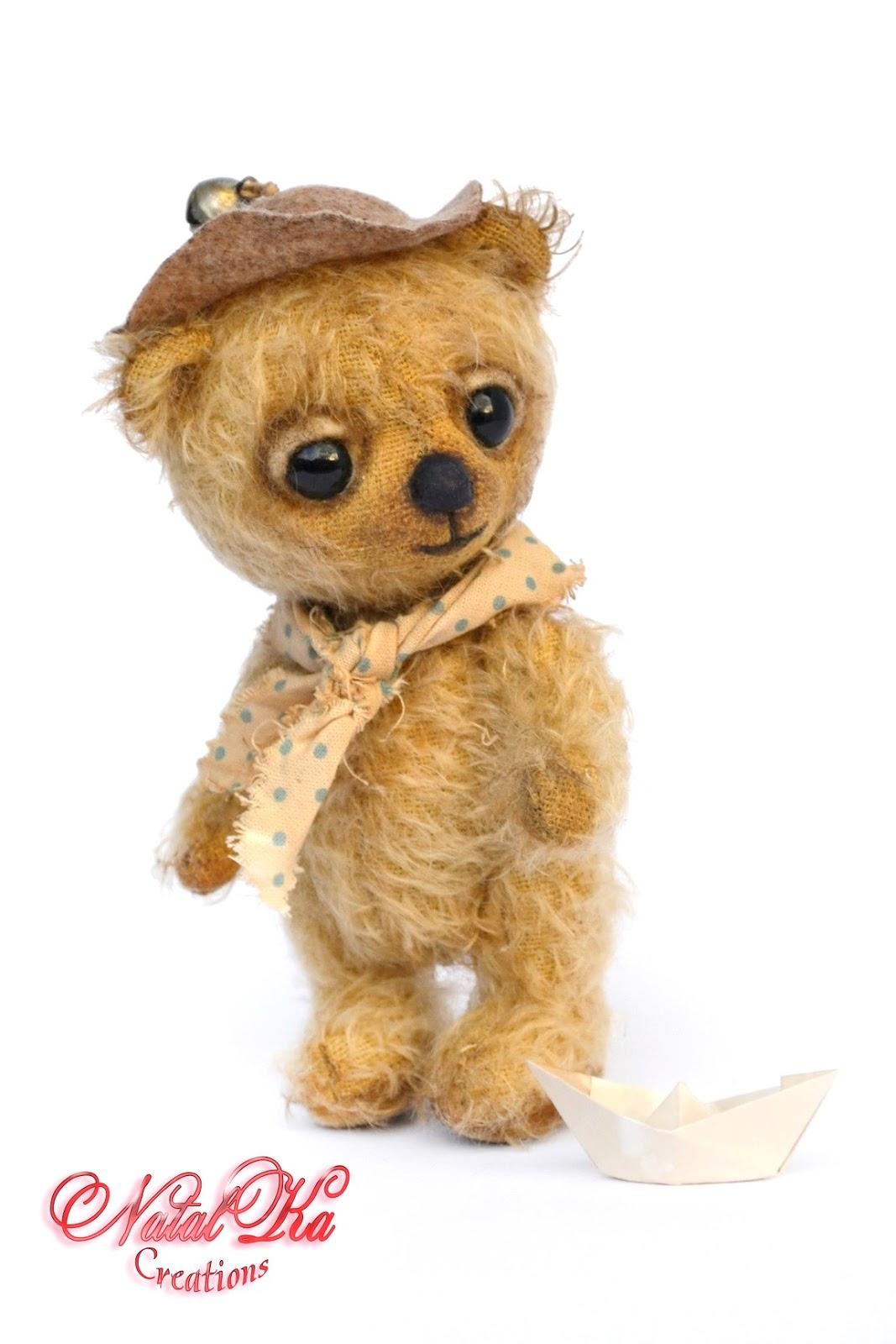 Künstlerbär, Teddybär, Bär, Teddy aus Mohair, Unikat, handgemacht von NatalKa Creations. Авторский медведь тедди, мишка тедди, медвежонок тедди из мохера от NatalKa Creations