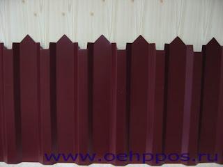 Забор из фигурного профлиста (резная кромка). Фото 20