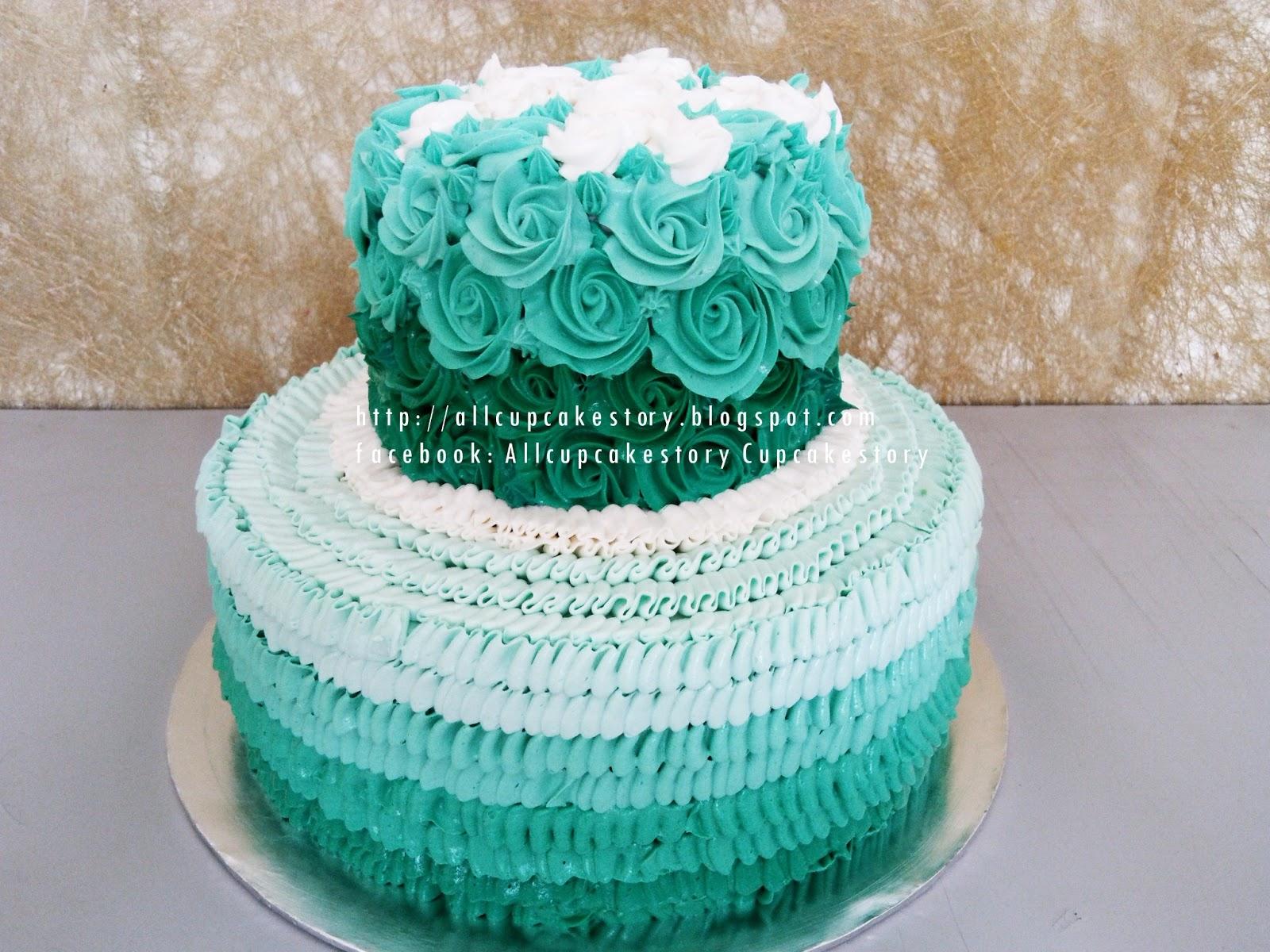 allcupcakestory turquoise rosette wedding cake. Black Bedroom Furniture Sets. Home Design Ideas