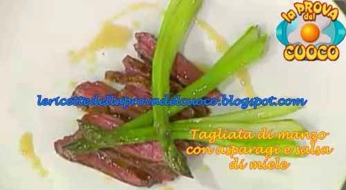 Tagliata di manzo con asparagi e salsa al miele ricetta for Cucinare diaframma