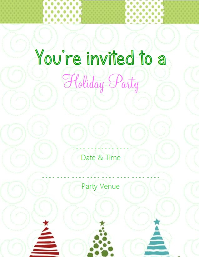 Choose from these free christmas party invitation templates for Free christmas invitation templates