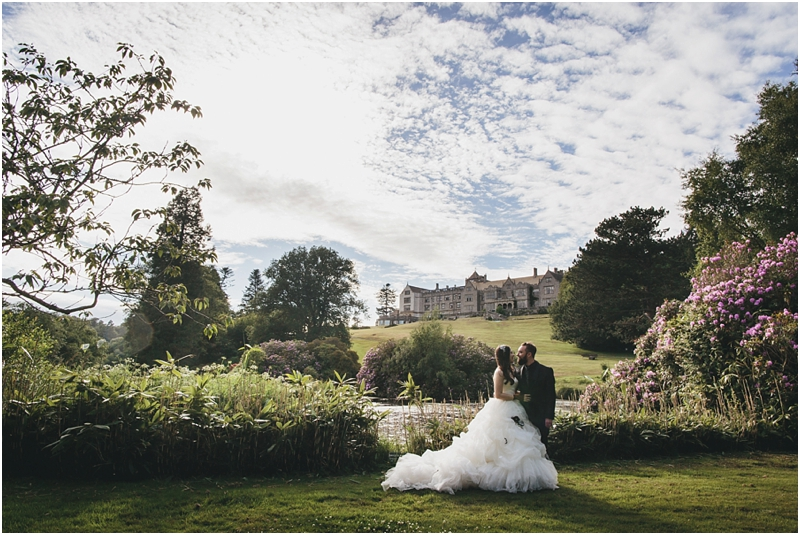 Bride and groom on the golf course at Bovey Castle