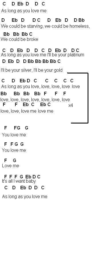 Flute Sheet Music As Long As You Love Me