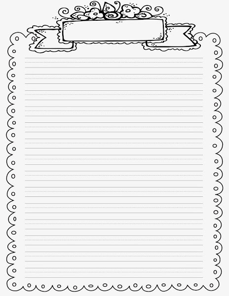 Lined Writing Paper with Borders