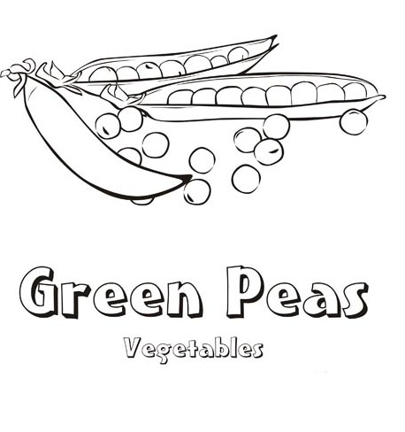 Peas Coloring Pages To Girls