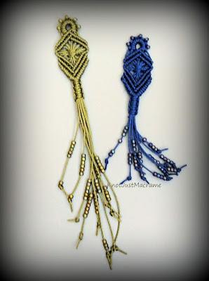 Micro macrame pendant for the KnotAlong class by Sherri Stokey.