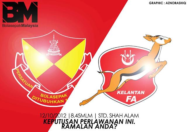 Keputusan Selangor vs Kelantan Separuh Akhir Kedua 12 Oktober 2012