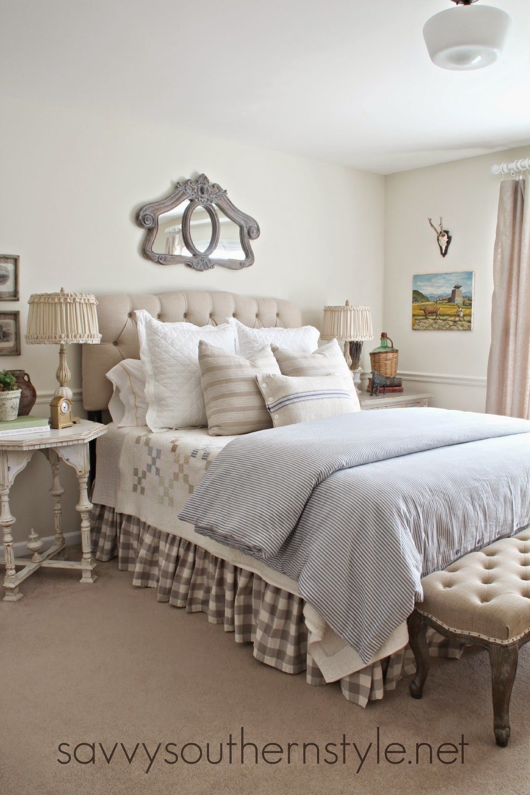 Savvy southern style the tufted bench for Southern style bedroom